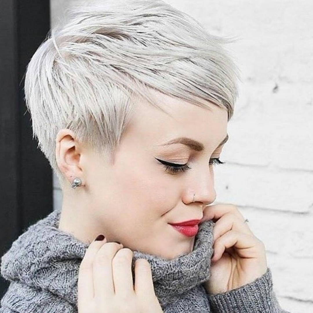 Bam! Beautiful Platinum Pixie / Cut@sarahchambray On With Regard To Most Current Platinum Pixie Hairstyles (View 4 of 15)