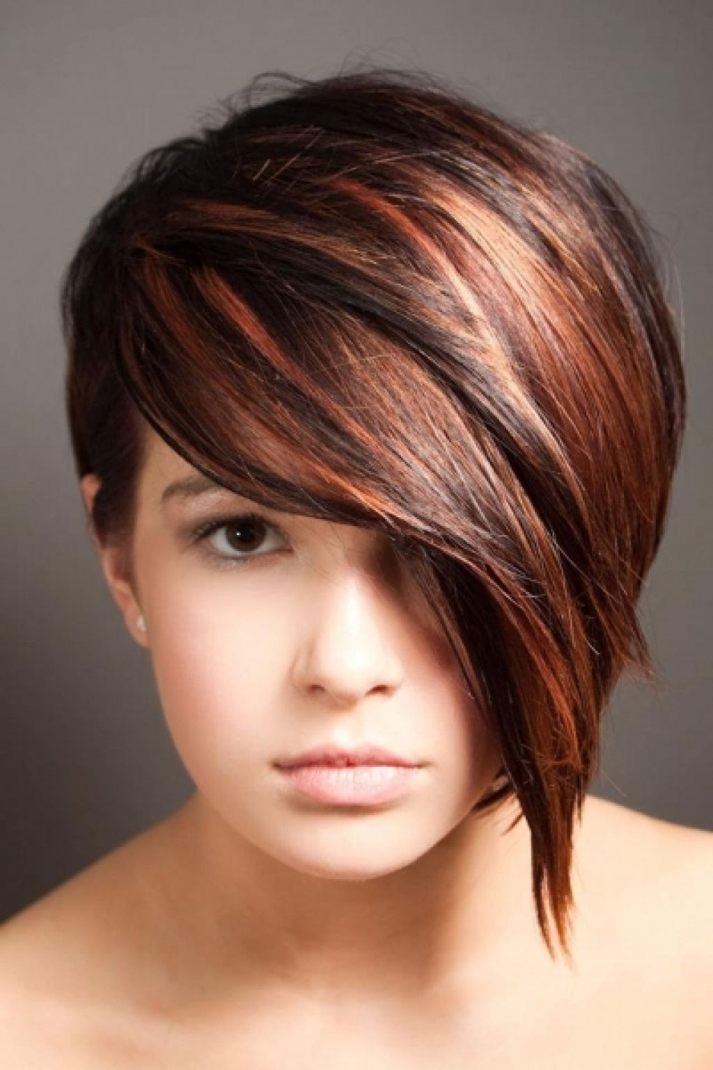 Beautiful Pixie Hairstyle With Long Wavy Fringe In Newest Pixie Hairstyles With Long Fringe (View 7 of 15)