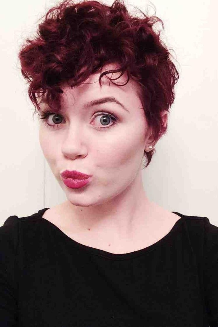 Best 25+ Curly Pixie Cuts Ideas On Pinterest | Curly Pixie, Pixie Regarding Newest Pixie Hairstyles For Thick Curly Hair (View 3 of 15)