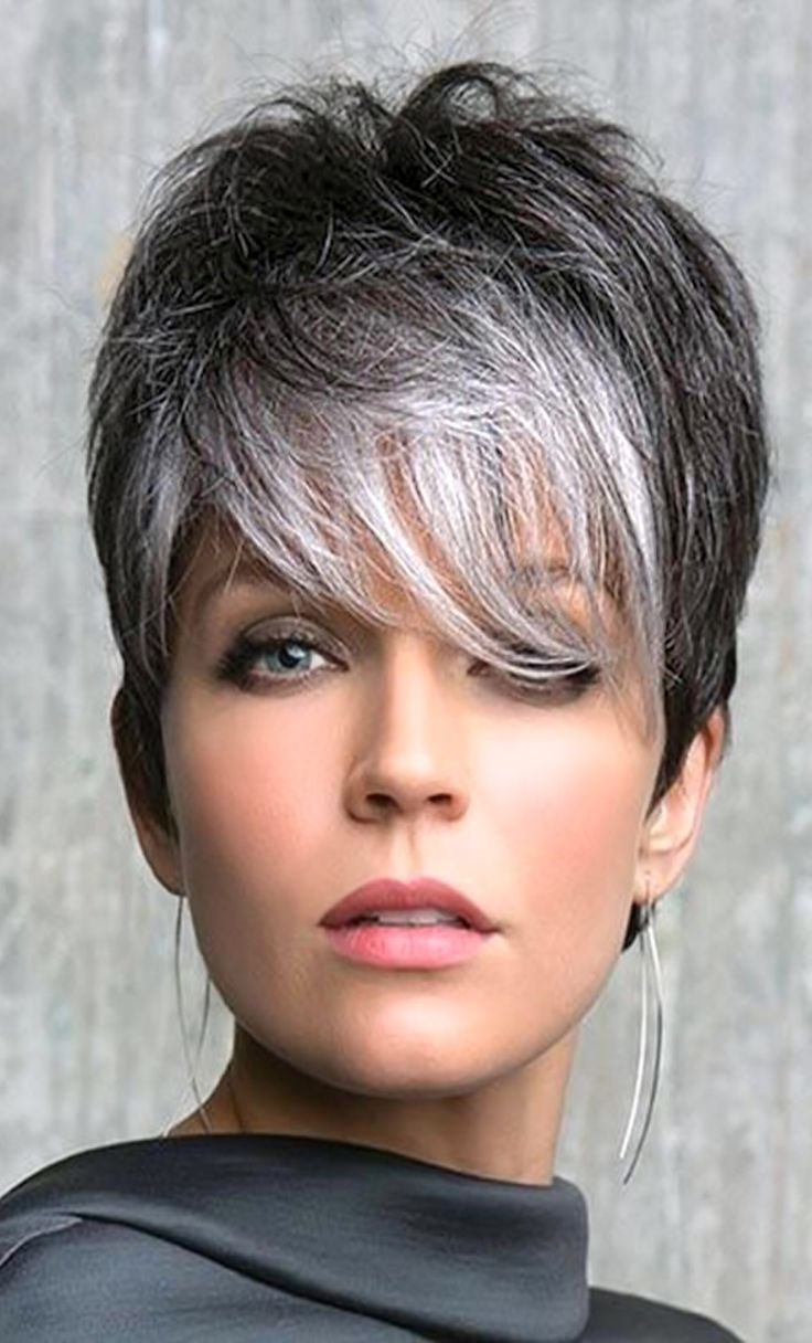 Featured Photo of Gray Hair Pixie Hairstyles