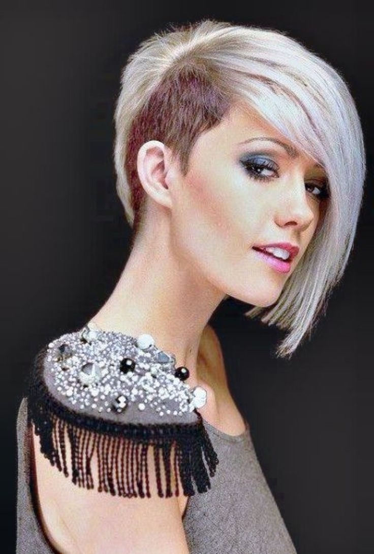Best 25+ Women's Shaved Hairstyles Ideas On Pinterest | Short Inside Best And Newest Buzzed Pixie Hairstyles (View 11 of 15)