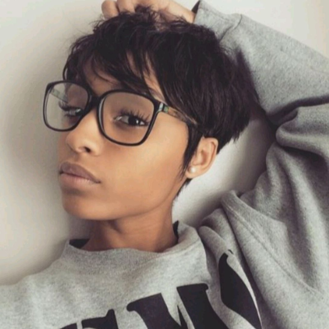 Black Girls Club : Photo   Black Hairstyles   Pinterest   Girls Inside Most Popular Pixie Hairstyles For Black Girl (View 14 of 15)