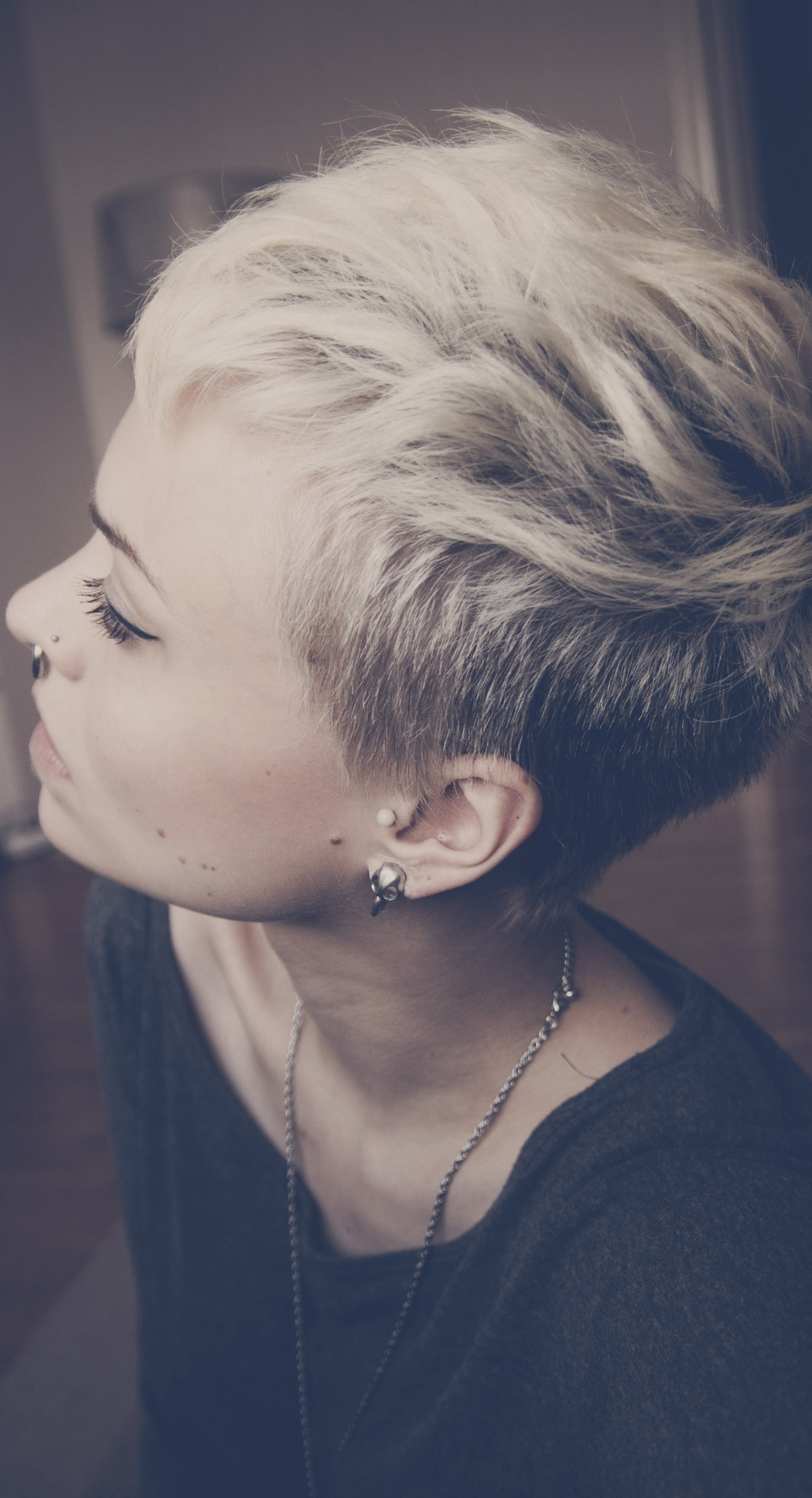 Boyish Pixie Haircut With Fearsome Short Cut Hairstyles Cuts Stock Throughout Latest Pixie Hairstyles With Shaved Sides (View 8 of 15)