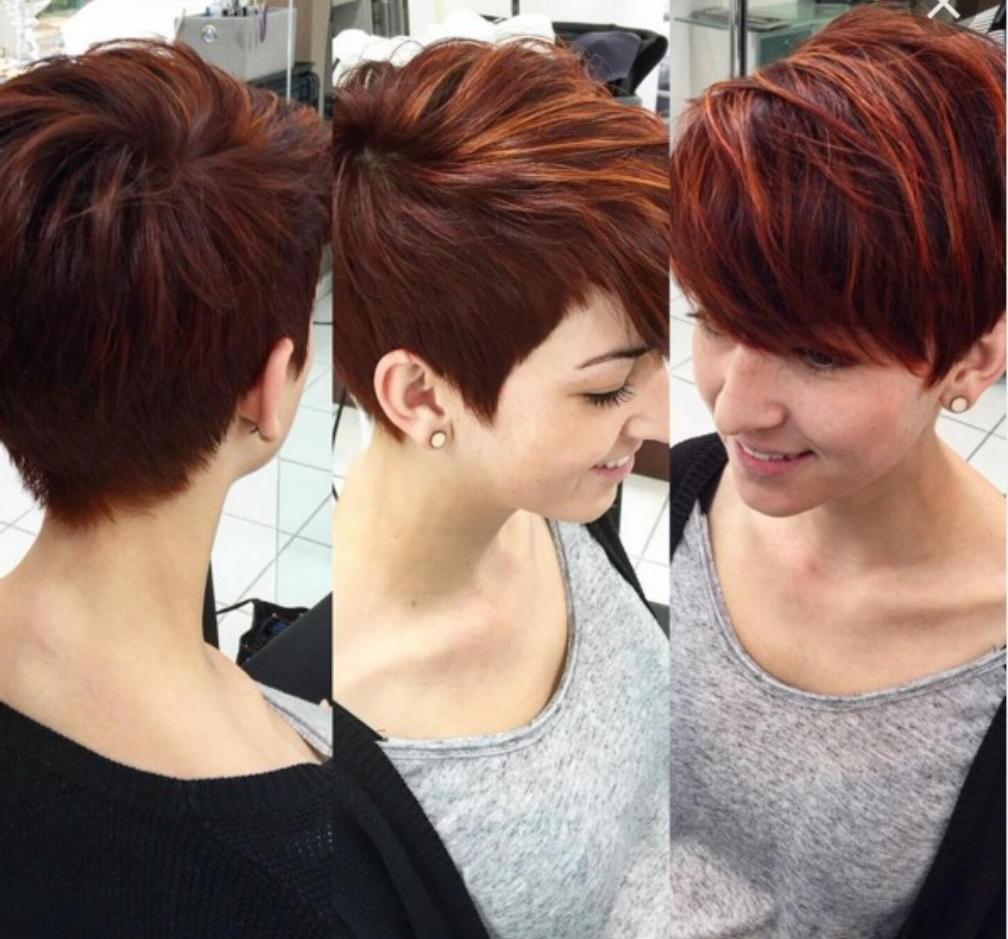 Caramel Colored Pixie With Long Side Bangs   Hair   Pinterest Intended For Best And Newest Pixie Hairstyles With Bangs (View 4 of 15)