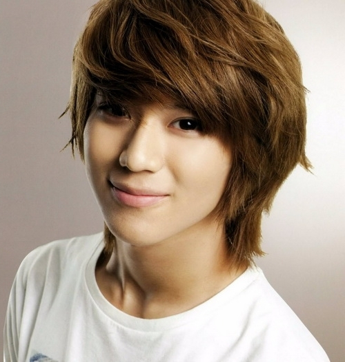 Caramel Korean Hairstyles Within Latest Korean Shaggy Hairstyles (View 9 of 15)