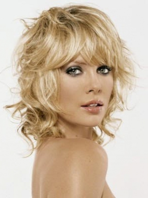 Chic Medium Shag Haircuts 2018 Intended For Most Up To Date Medium Shaggy Curly Hairstyles (View 8 of 15)