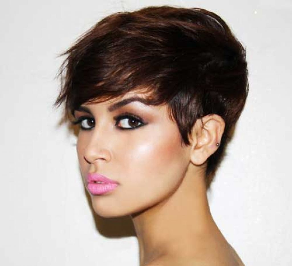 Cute Brunette Pixie Haircuts Ideas Pixie Haircut For Round Face Regarding Most Up To Date Brunette Pixie Hairstyles (View 10 of 15)