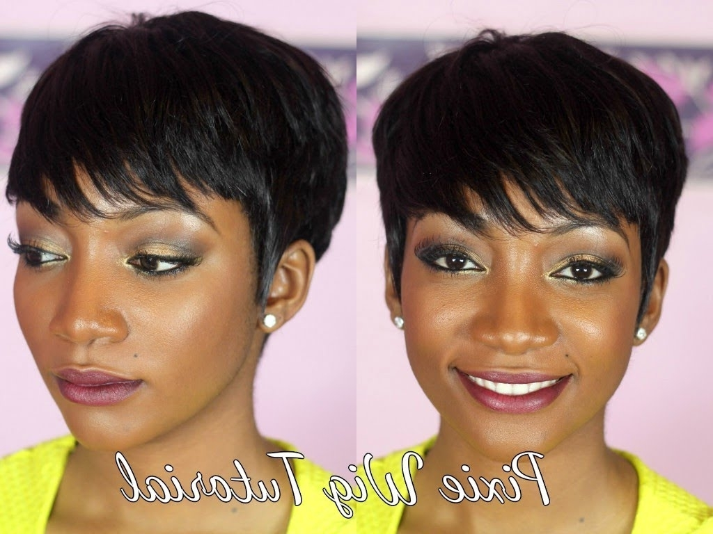 Diy – How To Make A Pixie Wig – Youtube For Most Popular Pixie Hairstyles With Weave (View 3 of 15)