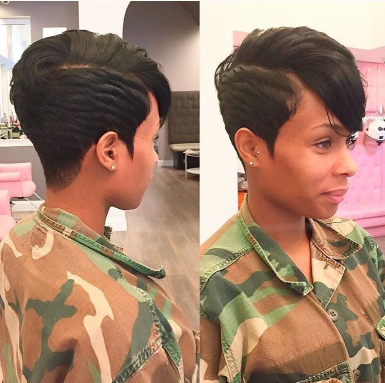 ? Go Follow @blackgirlsvault For More Celebration Of Black Beauty In Most Current Pixie Hairstyles For Black Girl (View 2 of 15)