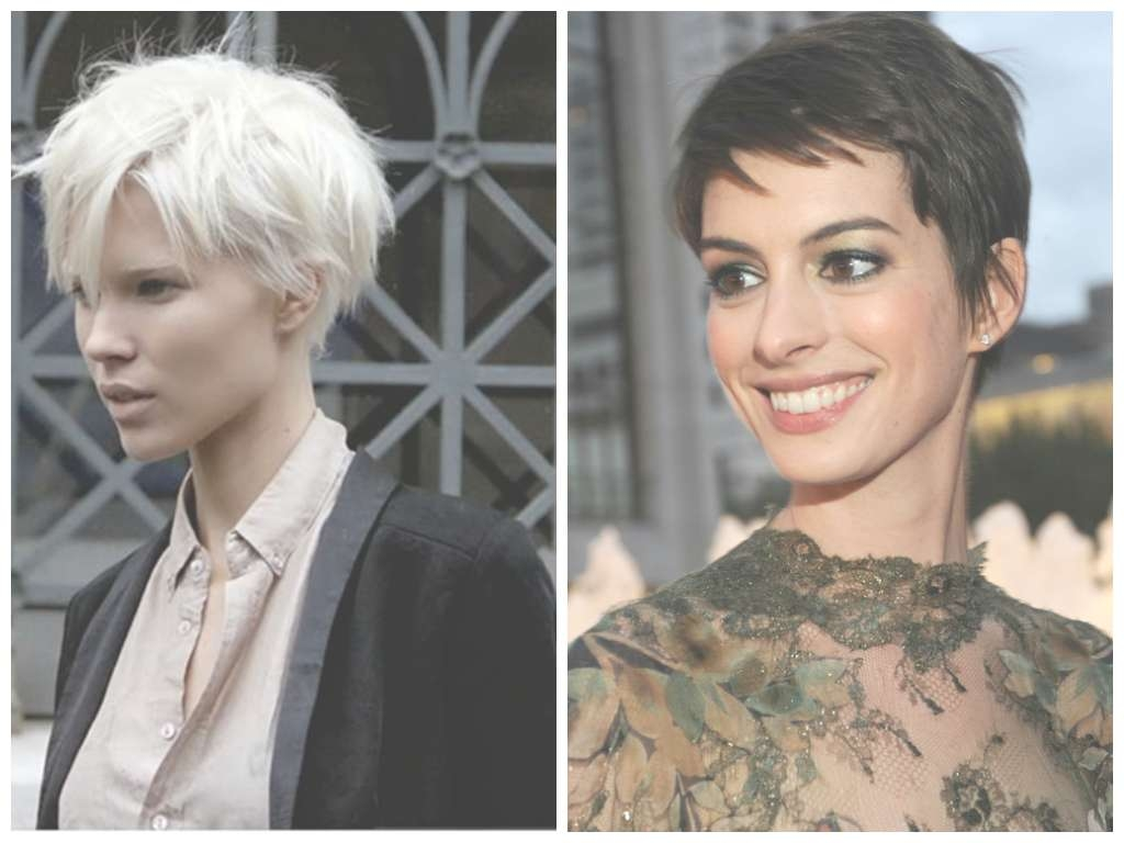 displaying gallery of pixie hairstyles for oval face shape (view 2