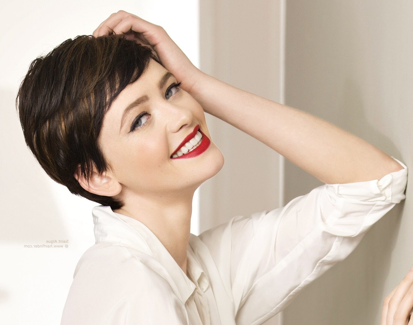 Flirty Short Pixie Hair Within Current Brunette Pixie Hairstyles (View 7 of 15)