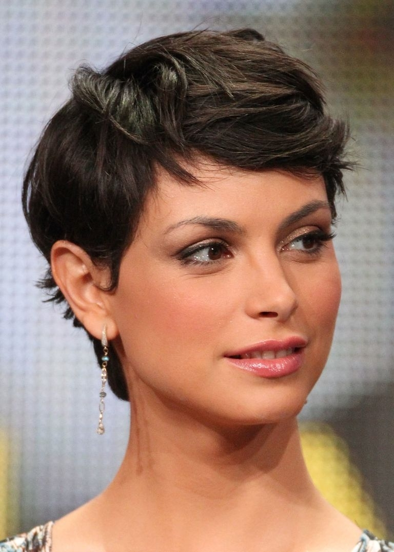 From Pixies To Shags: 18 Great Cuts For Short, Brown Hair Regarding Best And Newest Pixie Hairstyles For Dark Hair (View 4 of 15)