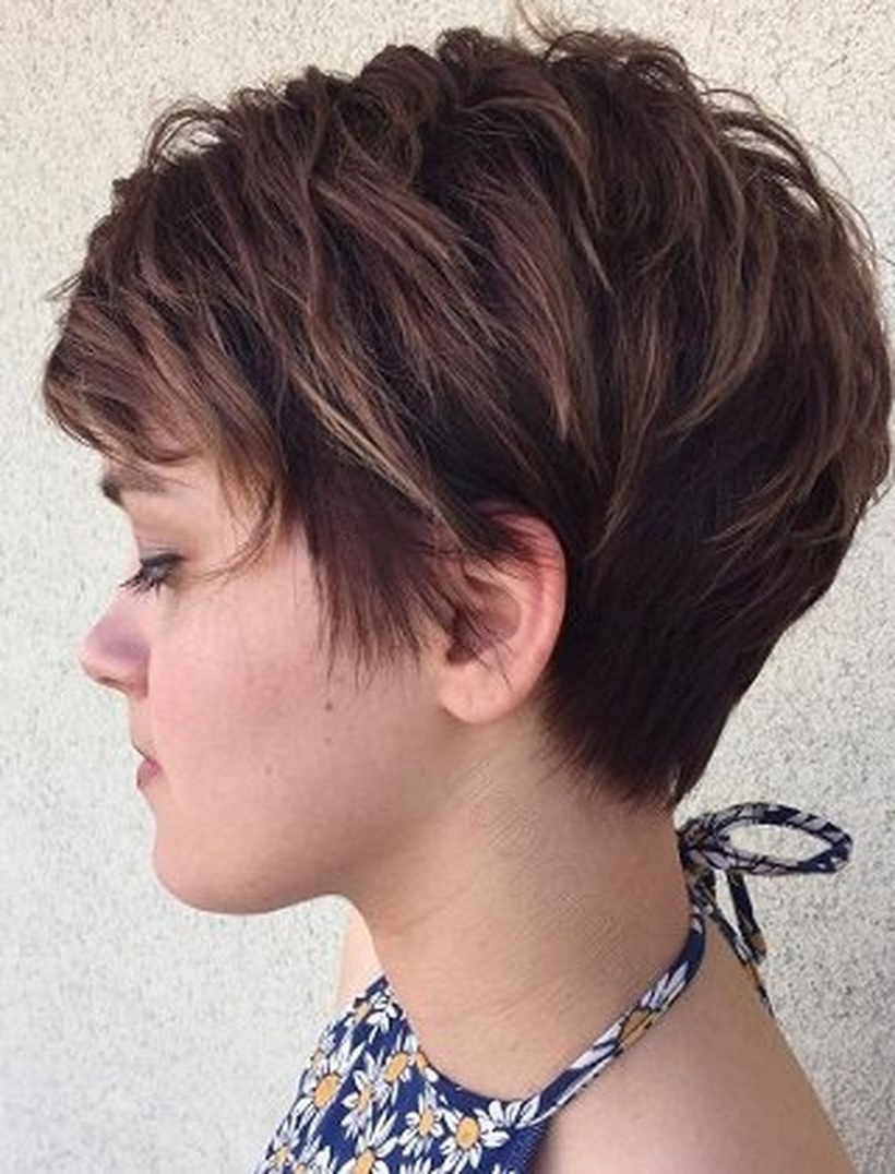 Funky Short Pixie Haircut With Long Bangs Ideas 104 | Short Pixie Throughout Newest Long Layered Pixie Hairstyles (View 3 of 15)