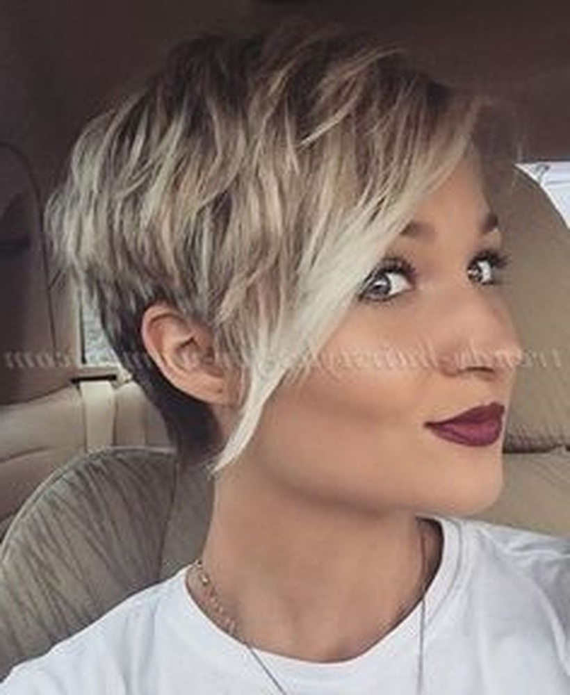 Funky Short Pixie Haircut With Long Bangs Ideas 78 – Fashion Best Within Current Pixie Hairstyles With Long Bangs (View 8 of 15)