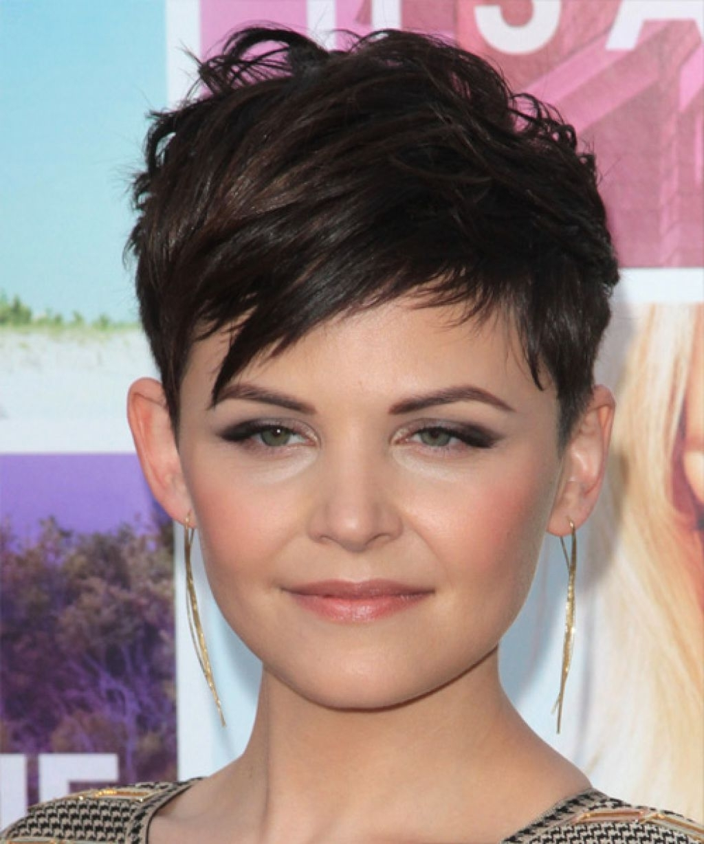Ginnifer Goodwin Short Straight Pixie Hairstyle With Most Recently Short Straight Pixie Hairstyles (Gallery 12 of 15)