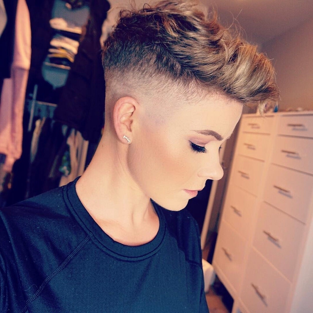 Girls With Short Hair & Shaved Heads : Photo | Pixie Cutswhat For Latest Buzzed Pixie Hairstyles (Gallery 9 of 15)
