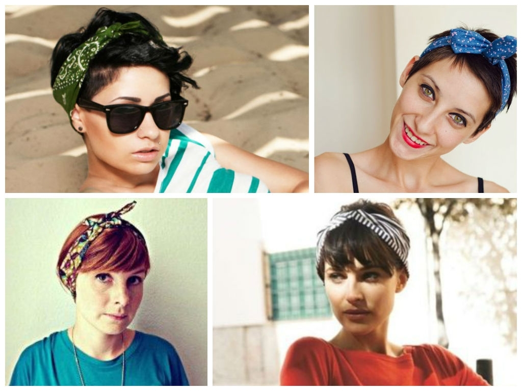 Great Looking Headbands For Short Hair – Hair World Magazine For Most Current Pixie Hairstyles With Headband (Gallery 2 of 15)