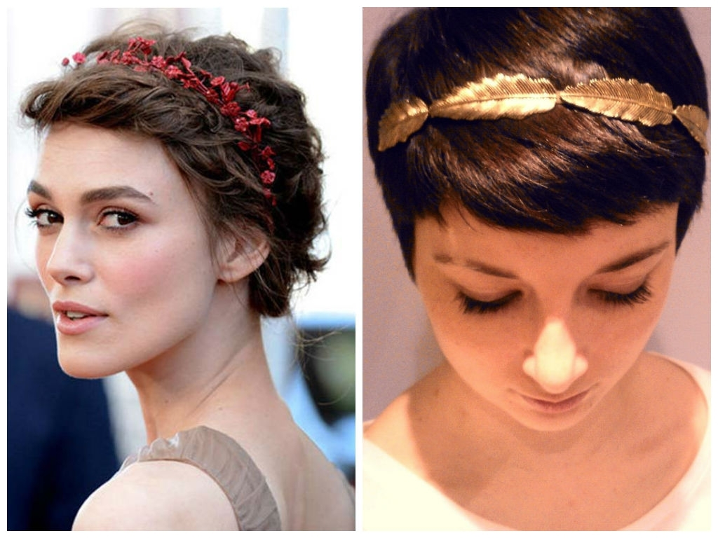 Great Looking Headbands For Short Hair – Hair World Magazine With Current Pixie Hairstyles With Headband (Gallery 1 of 15)