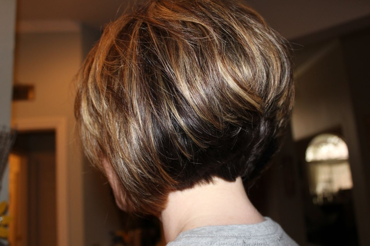 Haircuts From Back Long Layered Bob Haircuts Back View Best With Regard To 2018 Pixie Hairstyles With Stacked Back (View 9 of 15)