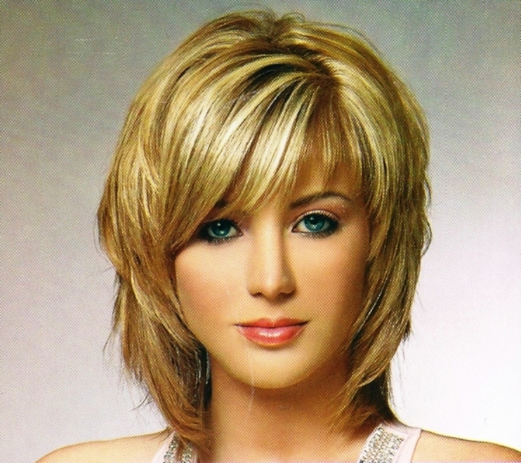 Image Gallery Of Medium Shaggy Hairstyles With Bangs View 8 Of 15