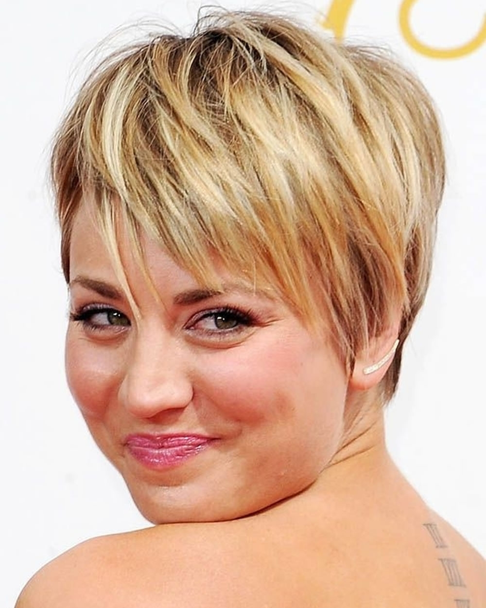 Hairstyles Fine Hair For Round Face 2018 2019 Regarding Most Recent Pixie Hairstyles For Thin Hair (View 10 of 15)