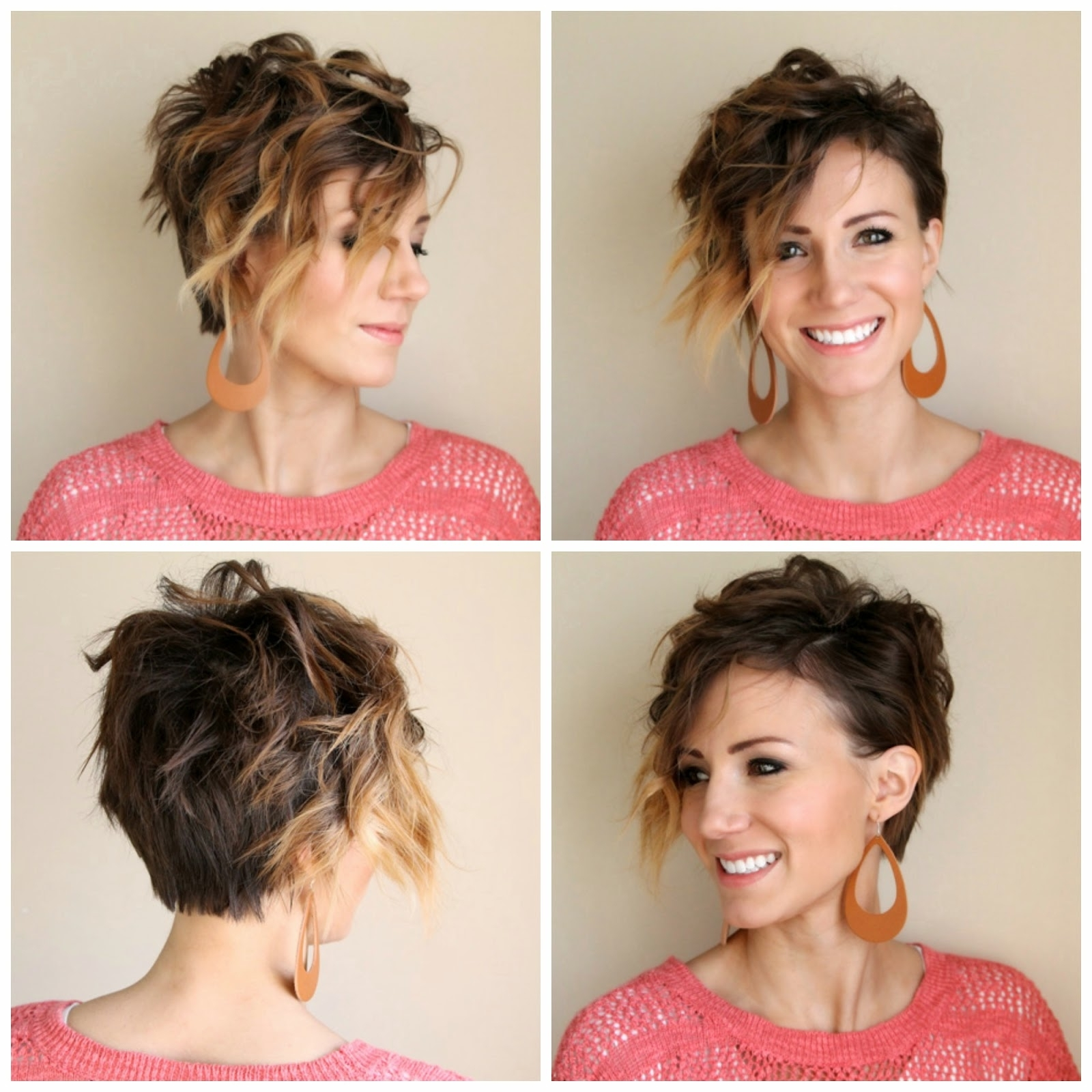 How To Curl A Long Pixie Tutorialone Little Momma | Short + Pertaining To Most Recent Long Pixie Hairstyles For Curly Hair (View 8 of 15)