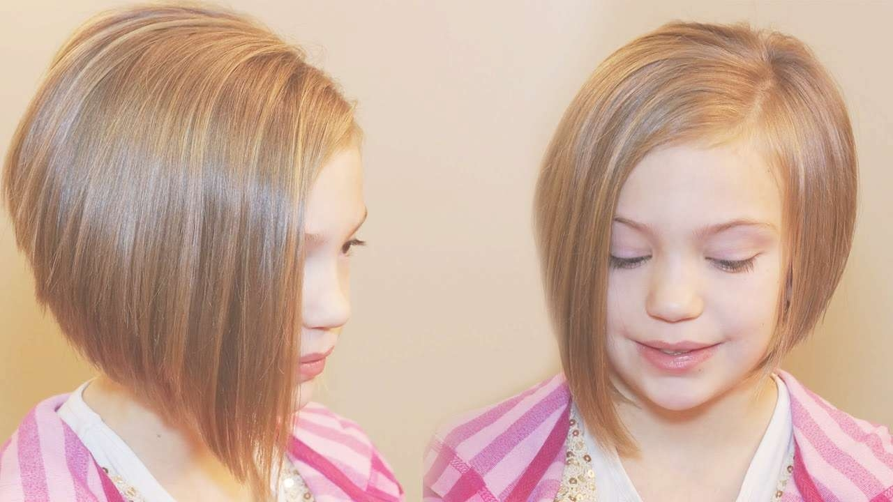 How To Cut An Asymmetrical A Line // Short Hairstyles – Youtube With Regard To Current Pixie Hairstyles For Little Girl (View 7 of 15)