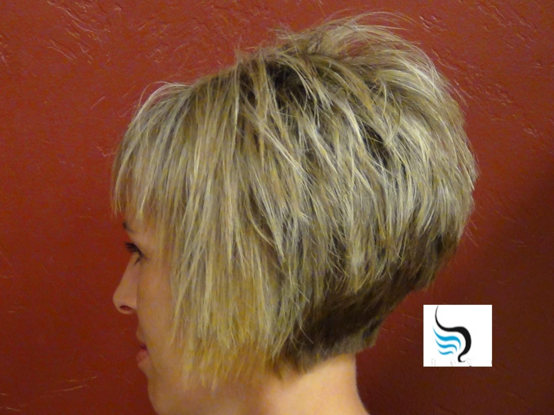 How To Do A (Short Stacked Haircut) With Straight Bangs Girl For Newest Pixie Hairstyles With Stacked Back (View 2 of 15)