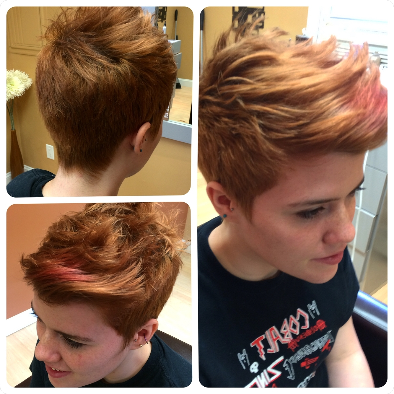 I Did This Cut For Rae, She Has Short Back And Sides With A Longer Inside Most Popular Pixie Hairstyles Front And Back (View 3 of 15)