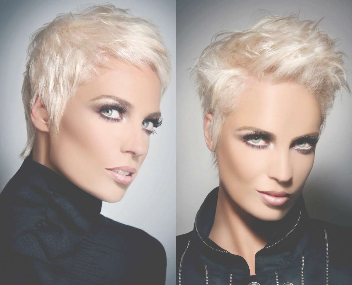 Ice Blonde Pixie Hairstyles Intended For 2018 Blonde Pixie Hairstyles (View 5 of 15)