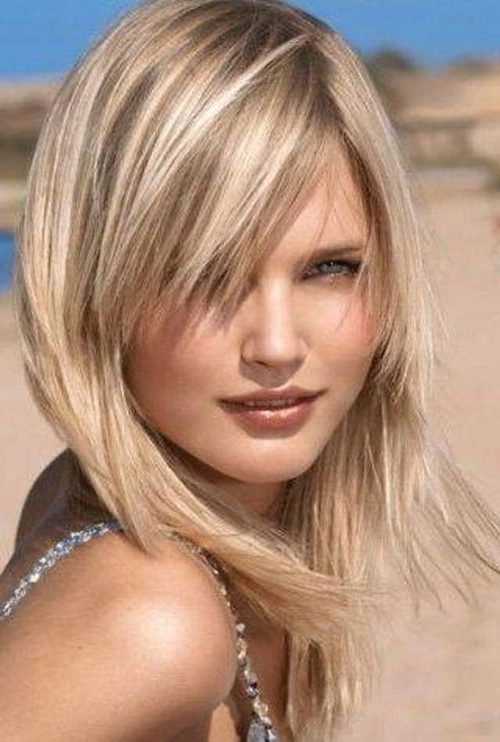 Image Result For Medium Length Blonde Hair | Hair | Pinterest With Newest Medium Shaggy Hairstyles For Thin Hair (View 6 of 15)
