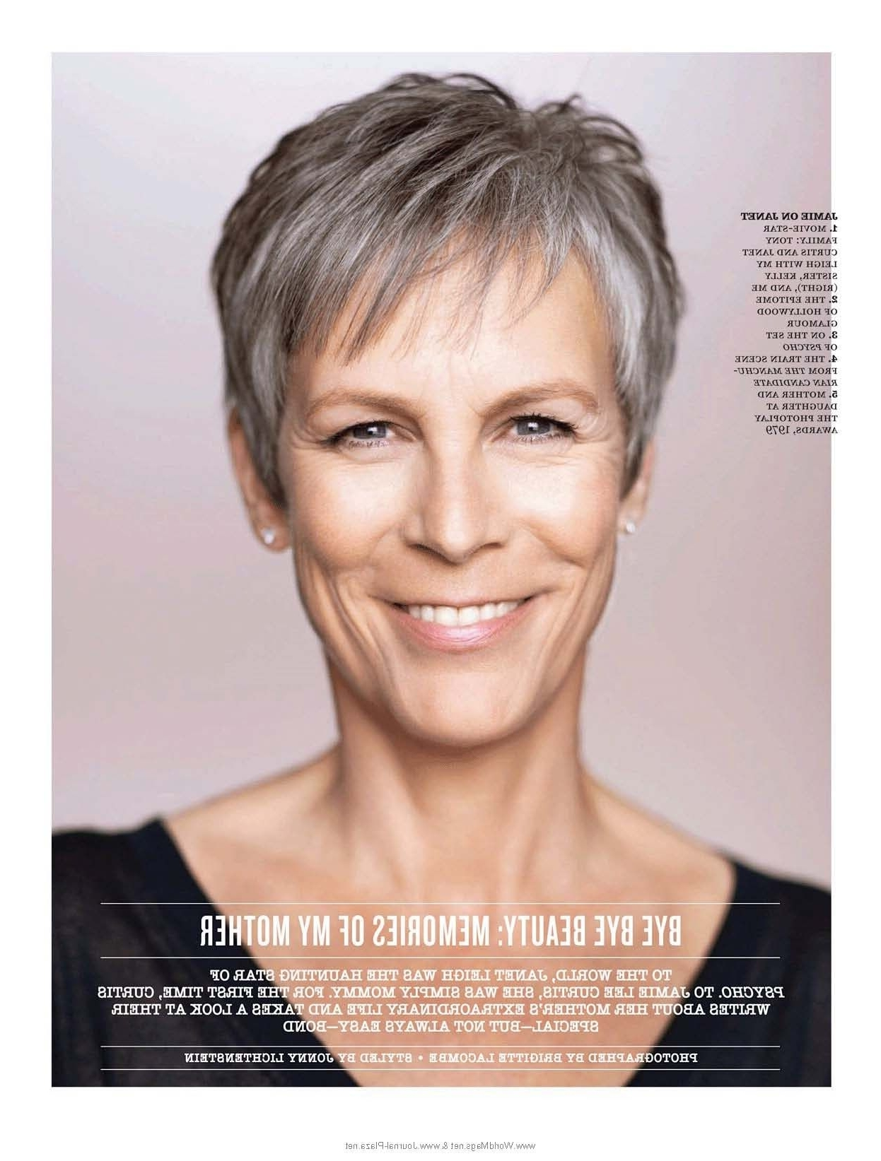 Jamie Lee Curtis - I Had A Crush On Her When She Was In The within Most Current Jamie Lee Curtis Pixie Hairstyles