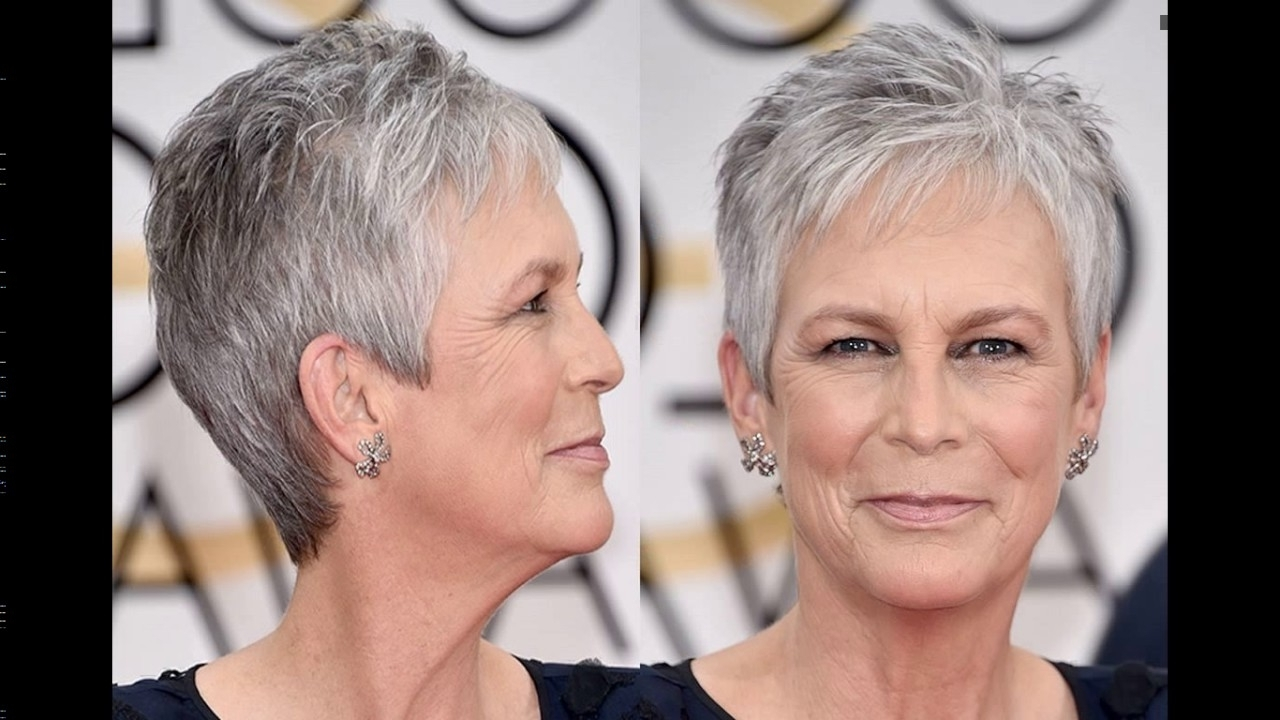 Jamie Lee Curtis Short Haircut Style - Youtube inside Most Current Jamie Lee Curtis Pixie Hairstyles
