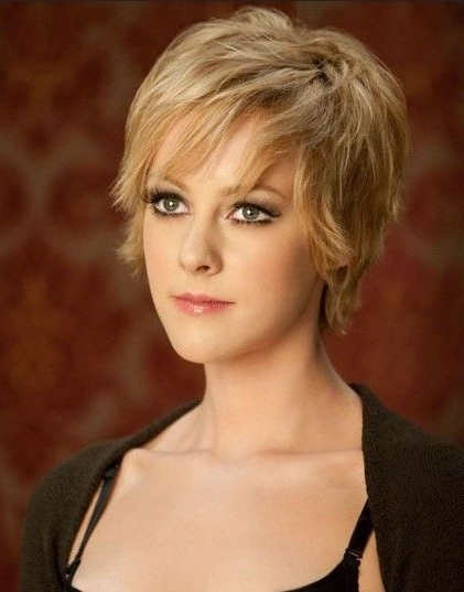 Jena Malone Short Hairstyle | Short Hairstyle, Fine Hair And Fine within Current Shaggy Bob Hairstyles For Fine Hair