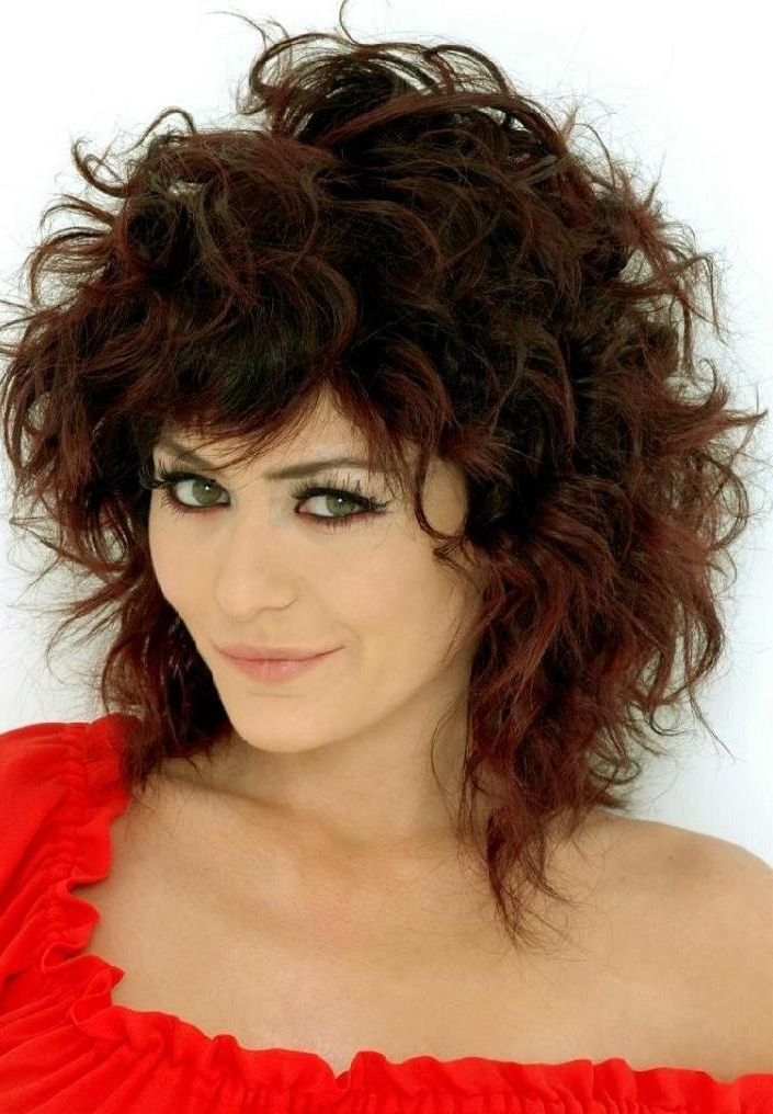 Featured Photo of Medium Shaggy Hairstyles For Curly Hair