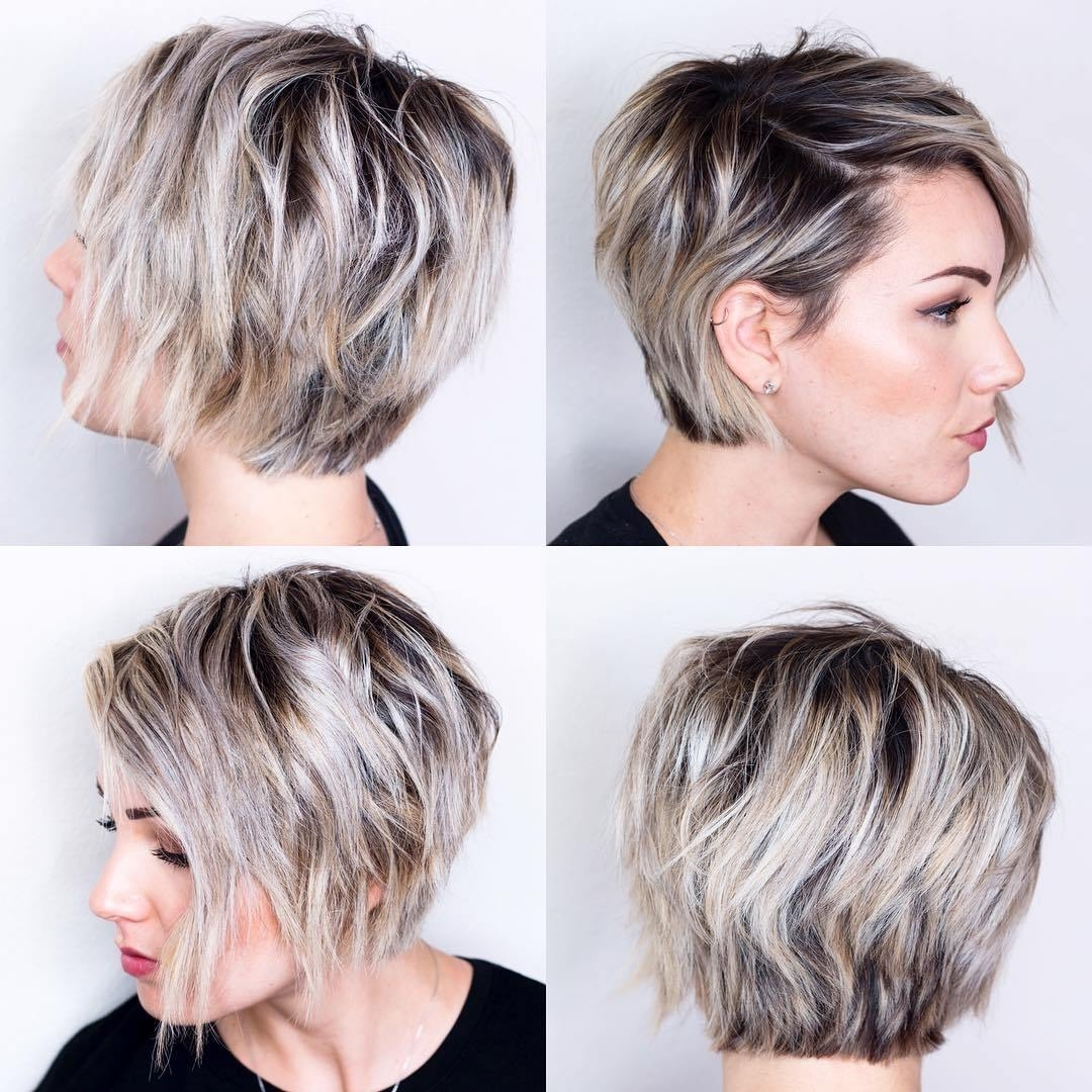 Long Pixie Haircut Front And Back Simple Fashion Style With Regard To Latest Hairstyles