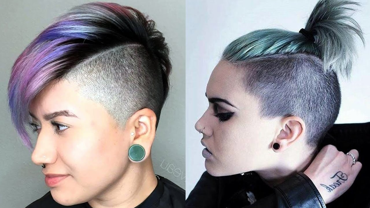 Long Top Short Sides Haircut Women / Extreme Short Hair Cut For Intended For Most Popular Pixie Hairstyles With Long On Top (View 3 of 15)