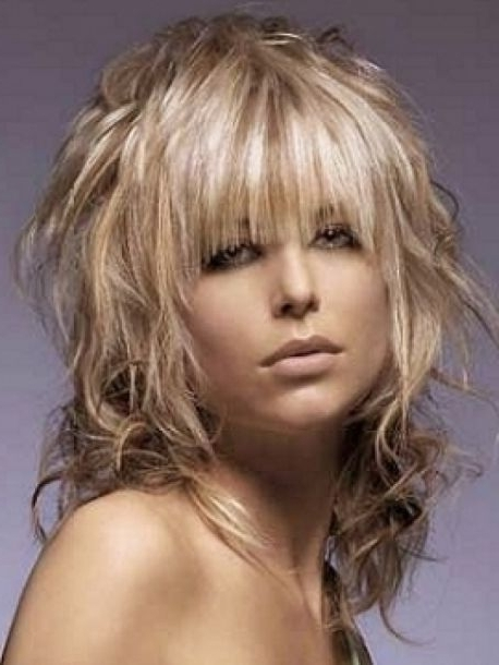Medium Length Shag With Bangs | Medium Shag Hairstyles With Bangs Inside Best And Newest Medium Shaggy Haircuts With Bangs (View 4 of 15)