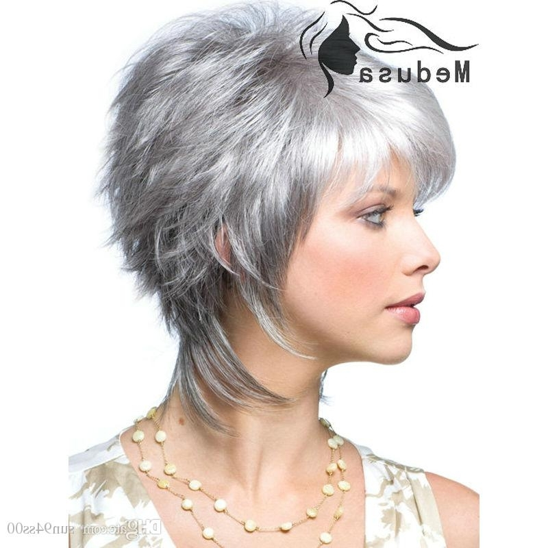 Gallery Of Short Shaggy Hairstyles For Grey Hair View 11 Of 15 Photos