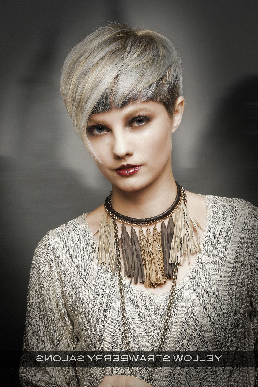 Ombre Hair Color Trends - Is The Silver #grannyhair Style within Most Up-to-Date Pixie Hairstyles With Short Bangs