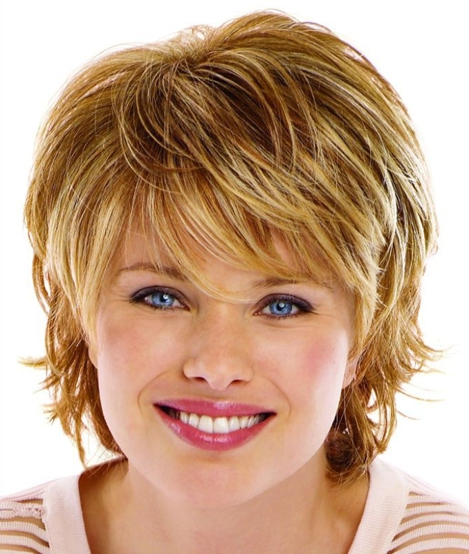 Displaying Photos Of Shaggy Short Hairstyles For Round Faces View