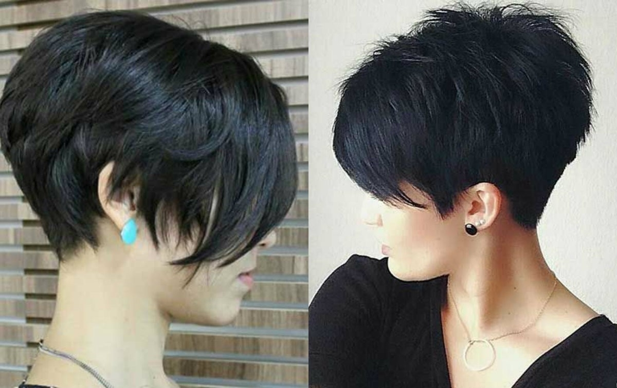Pictures Of Short Hairstyles Dark Hair   Short Dark Hairstyles Regarding 2018 Pixie Hairstyles For Dark Hair (View 8 of 15)