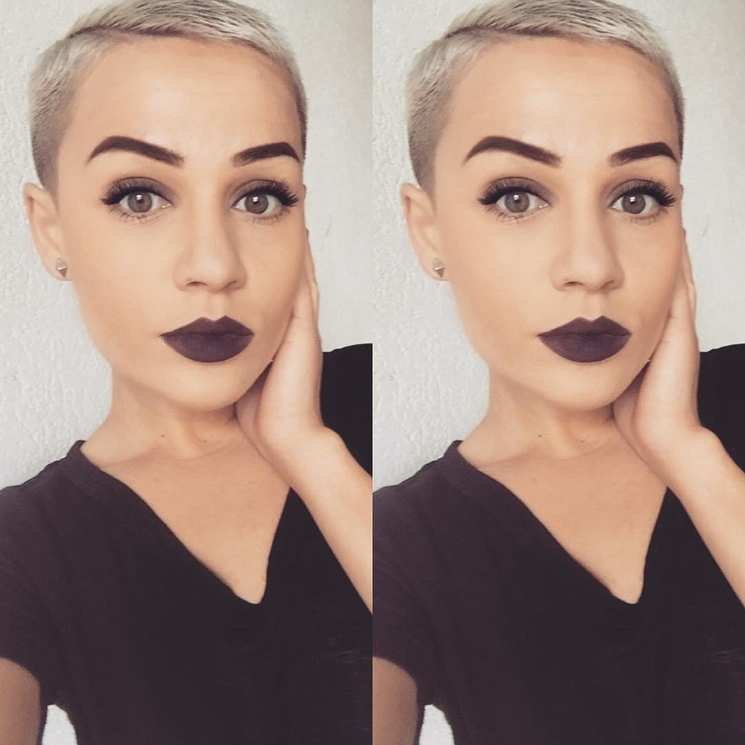 Pincourtney Carter On Hurr | Pinterest | Short Hair, Pixies With Regard To Most Recent Buzzed Pixie Hairstyles (View 7 of 15)