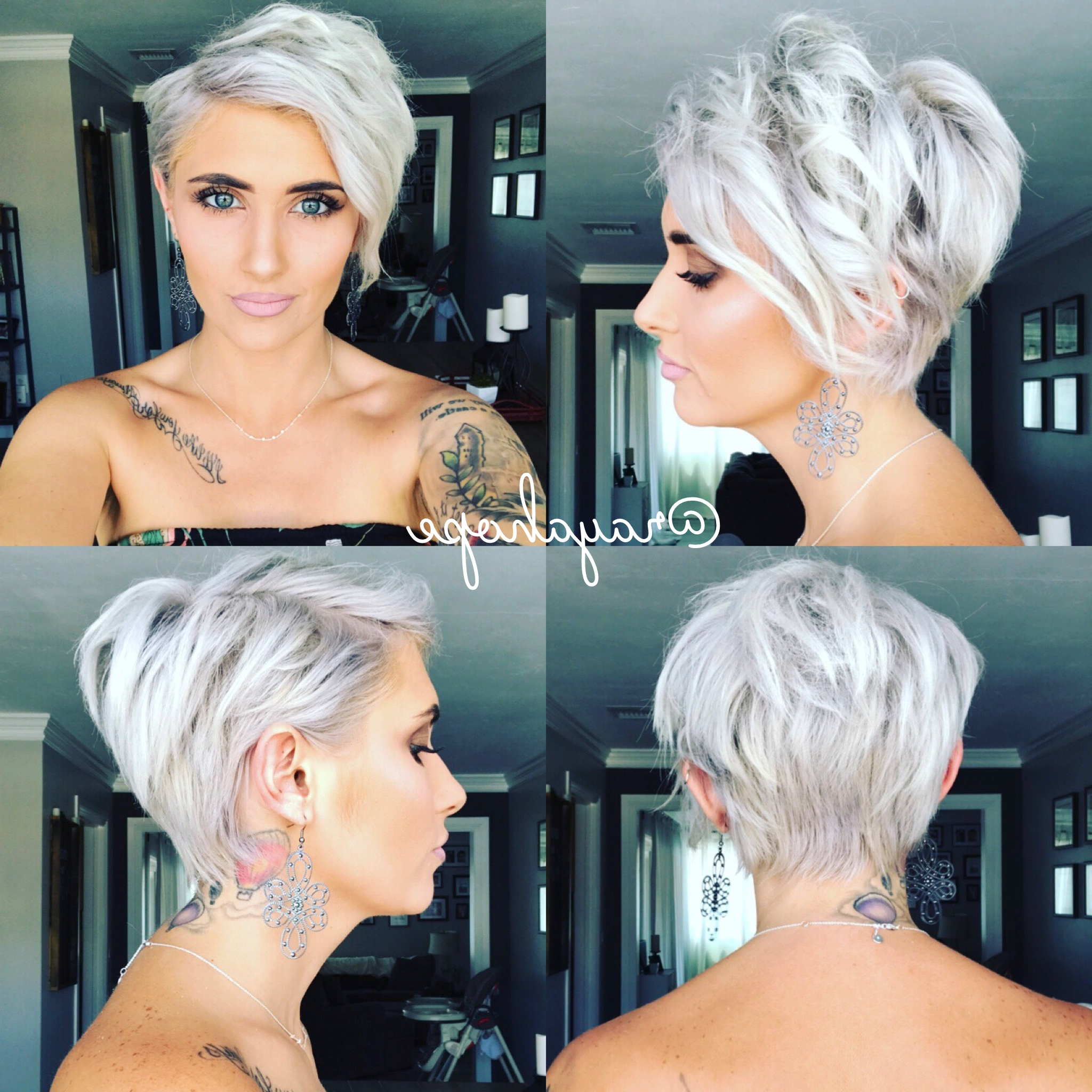 Pixie 360 Platinum Hair Platinum Blonde Pixie Platinum Pixie Inside Latest Platinum Pixie Hairstyles (View 6 of 15)