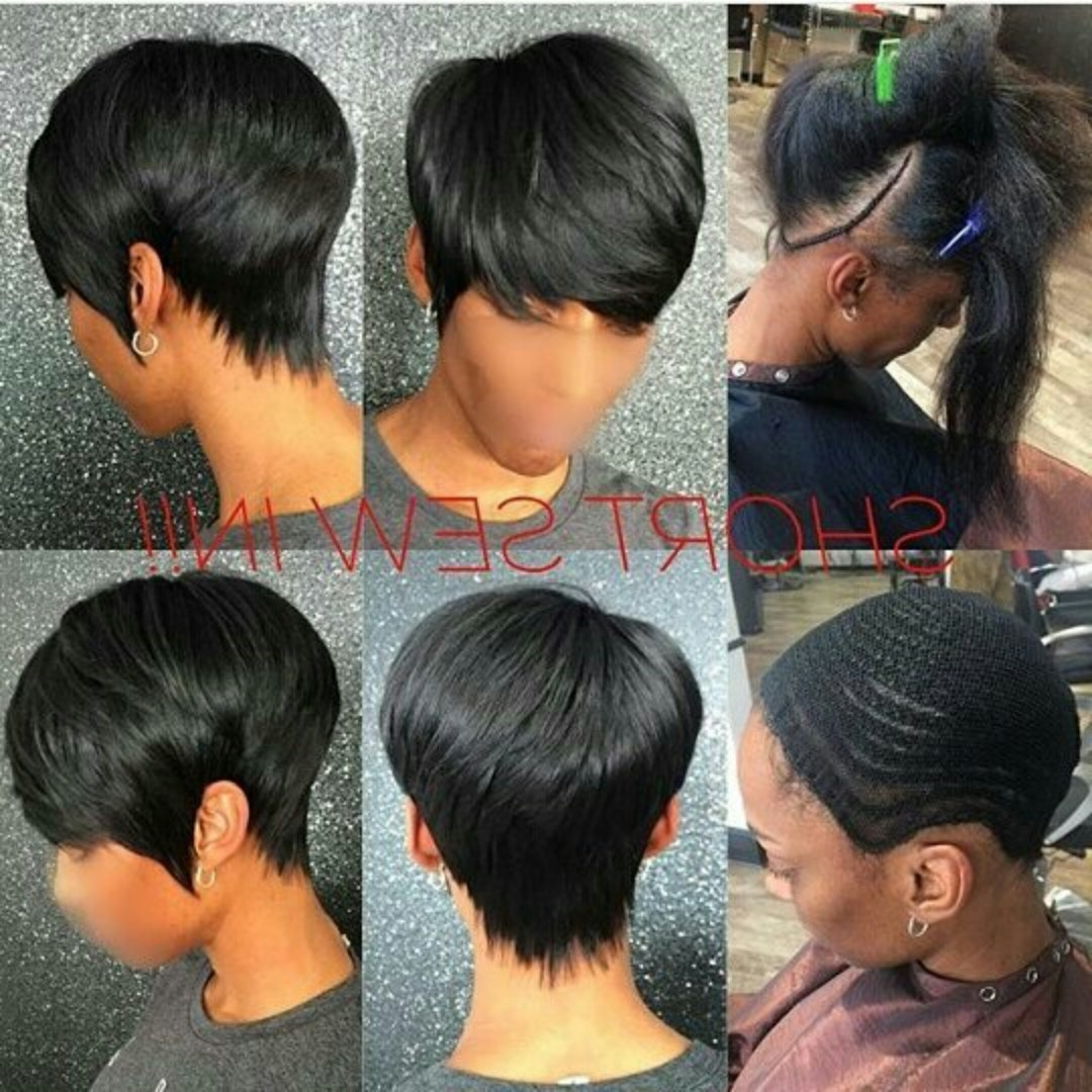 Pixie Cut … | Pinteres… Regarding Recent Pixie Hairstyles With Weave (View 2 of 15)