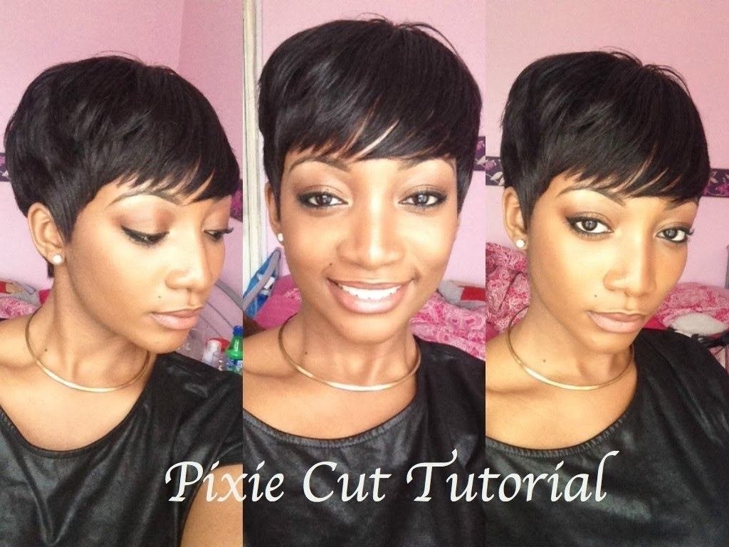 Pixie Cut Weave Hairstyles Diy How To Cut Style A Pixie Wig Youtube Intended For Recent Pixie Hairstyles With Weave (View 11 of 15)