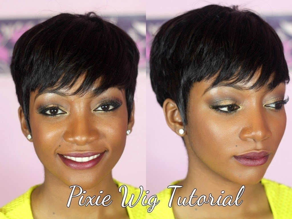 Pixie Cut Weave Hairstyles Diy How To Make A Pixie Wig Youtube Intended For Most Up To Date Pixie Hairstyles With Weave (View 10 of 15)