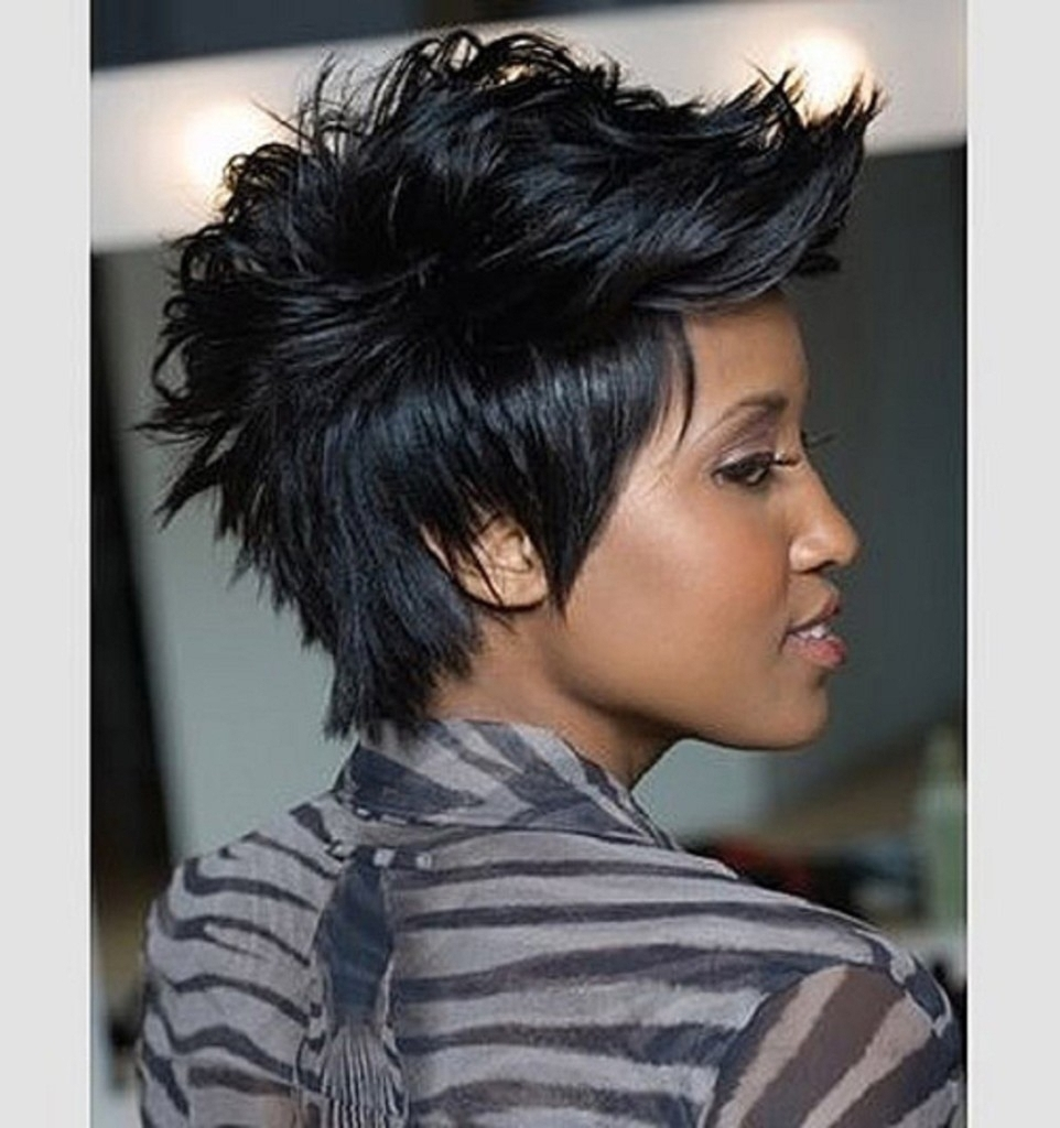 Pixie Cuts Black Hair Curly Pixie Cut Black Hair Hair Colour Your Intended For Most Popular Punk Pixie Hairstyles (View 15 of 15)