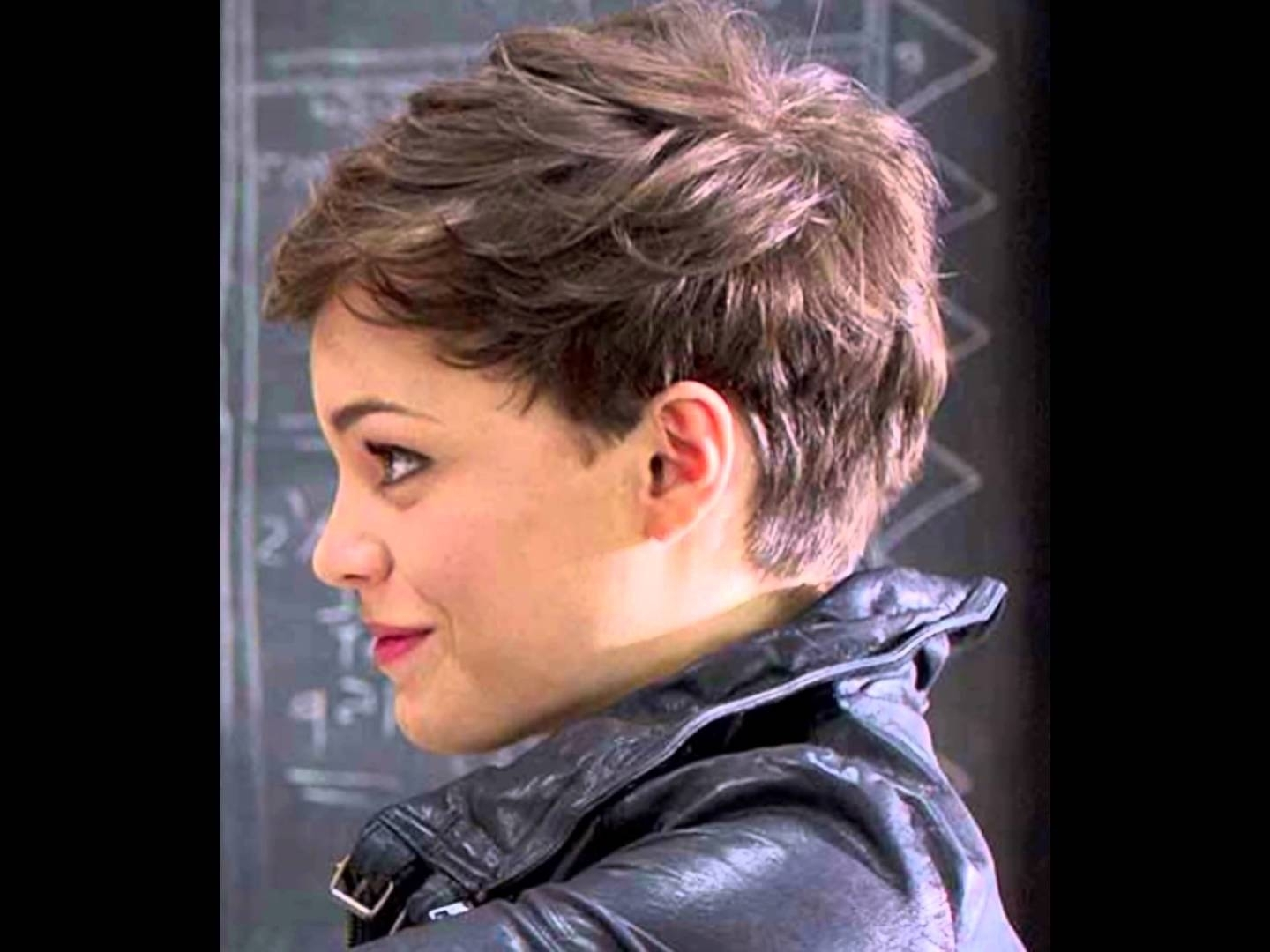 Showing Gallery Of Super Short Pixie Hairstyles For Round Faces