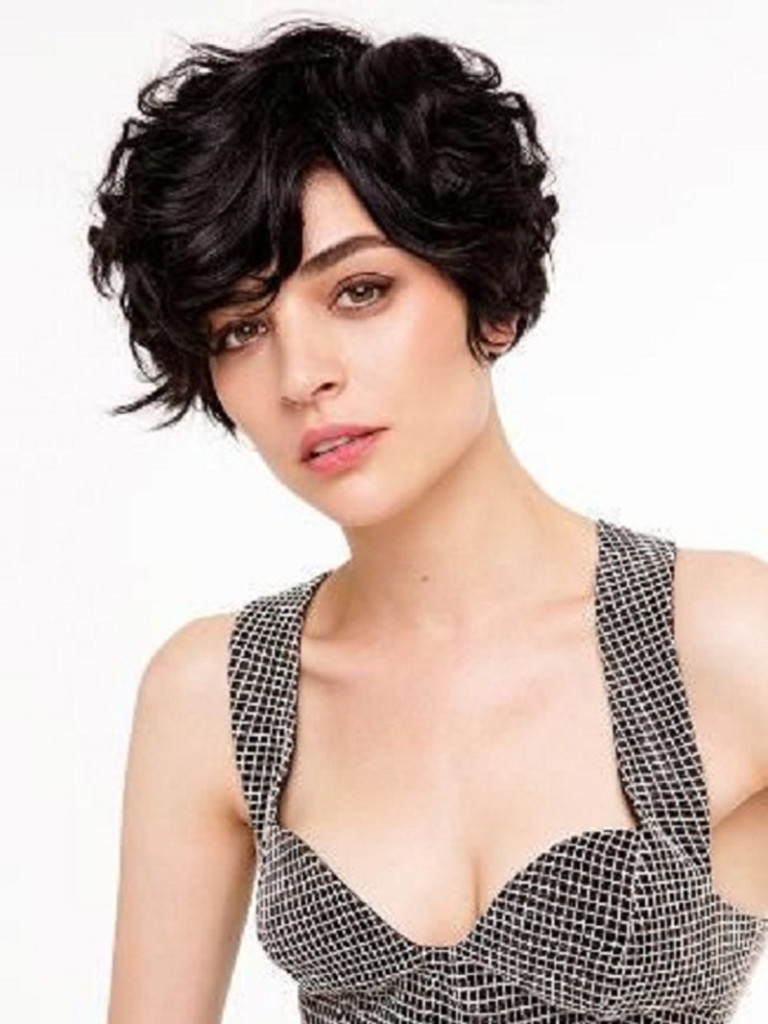 Displaying Gallery Of Short Pixie Hairstyles For Thick Wavy Hair